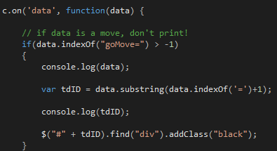 On data JS function